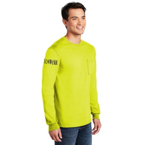 2410 Gildan - Ultra Cotton Long Sleeve Pocket T-Shirt