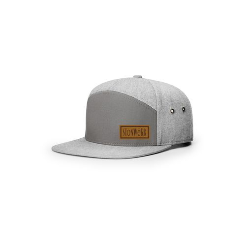 7 Panel Twill Leather Strap back 257