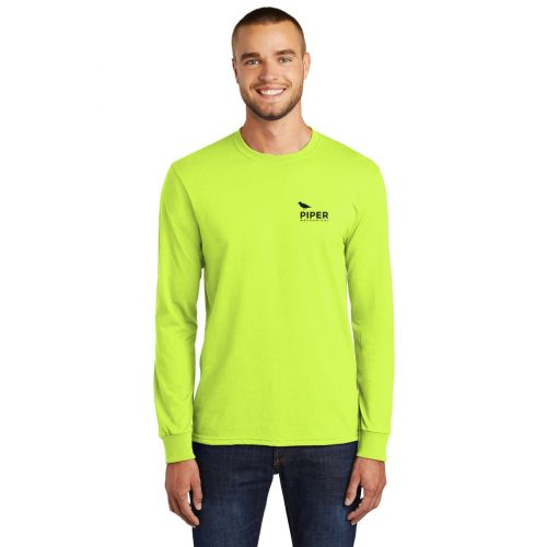 Safety Green Long Sleeve Tee