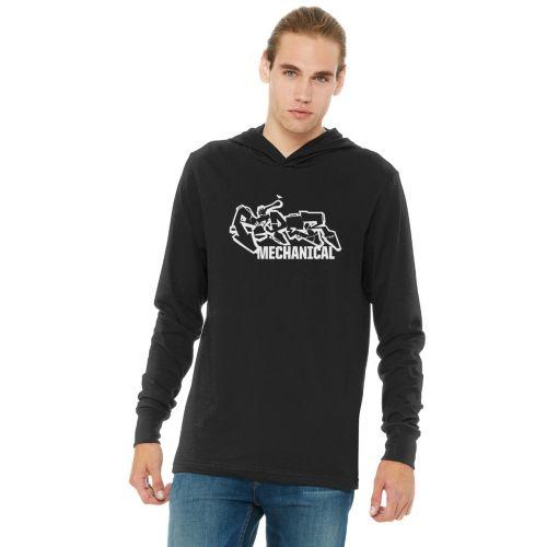 Bella Canvas Unisex Long Sleeve Hoodie Burner Logo