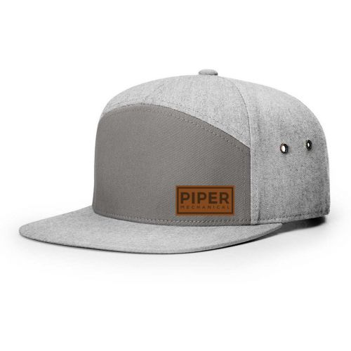 Richardson 7 Panel Twill Leather Strap Back